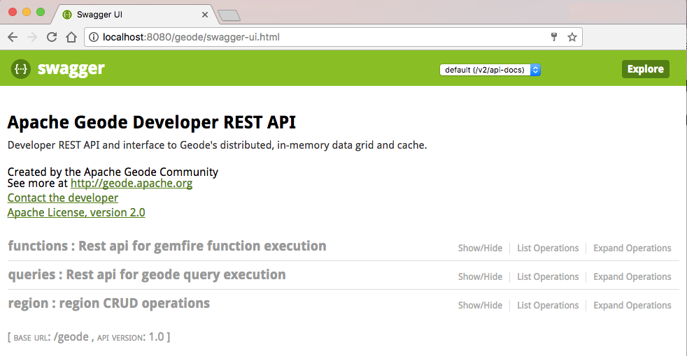 Using the Swagger UI to Browse REST APIs | Geode Docs